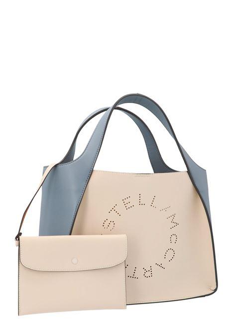 Borsa a spalla Stella Logo azzurra e bianca in ecopelle STELLA MC CARTNEY | Borse a tracolla | 513860-W8809T851