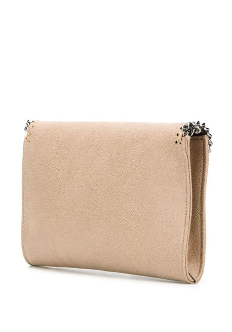 mini borsa a tracolla Falabella in ecopelle beige con finiture in catena argentata diamantata STELLA MC CARTNEY | Borse a tracolla | 581238-W91329300