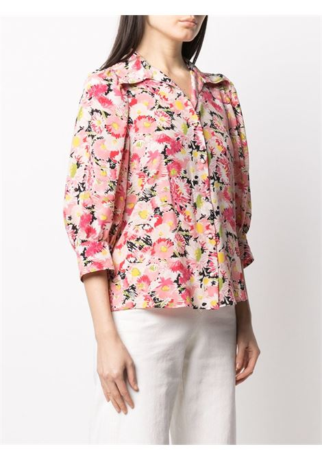 Pink silk floral crop-sleeve blouse STELLA MC CARTNEY |  | 599773-SRA278645