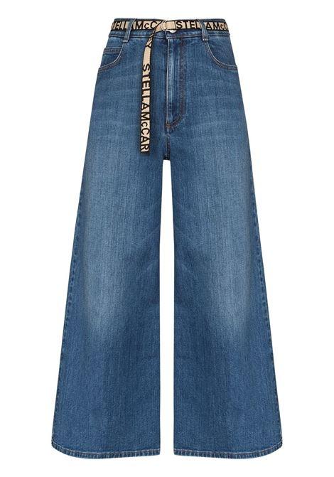 denim in cotone con cintura bianca logata STELLA MC CARTNEY | Jeans | 600447-SNH544008