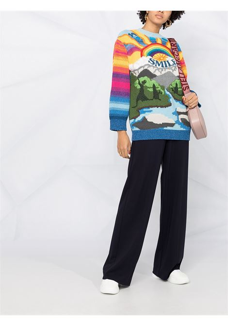 Multicoloured cotton wool jumper featuring ribbed-knit edge STELLA MC CARTNEY |  | 602887-S22388490