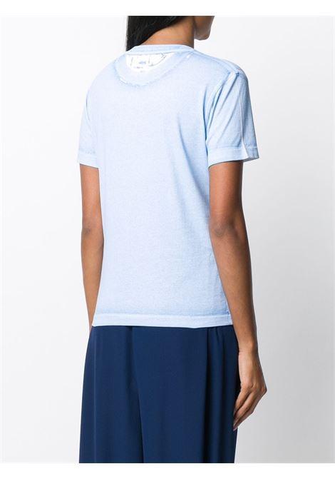 T-shirt con logo Stella McCartney in cotone blu STELLA MC CARTNEY | T-shirt | 602907-SOW564210
