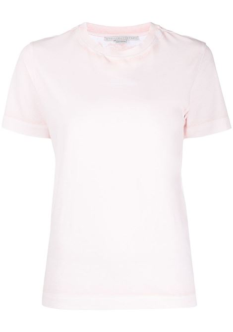 Pink organic cotton 2001 logo-print T-shirt featuring faded effect STELLA MC CARTNEY |  | 602907-SOW566901