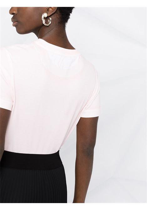 T-shirt con stampa logo 2001 in cotone organico rosa dall'effetto sbiadito STELLA MC CARTNEY | T-shirt | 602907-SOW566901