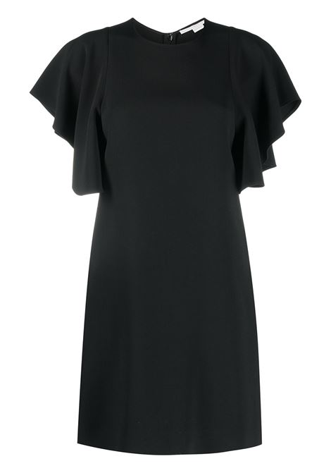 Black ruffle-sleeve mini dress featuring round neck STELLA MC CARTNEY |  | 602911-SCA061000