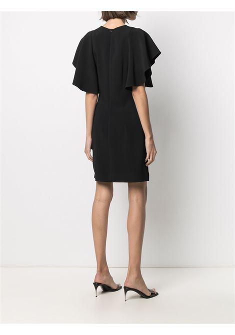 Mini abito nero con maniche a volant con scollo tondo STELLA MC CARTNEY | Abiti | 602911-SCA061000