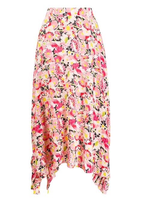 Pink flower pink cotton draped ruffle skirt  STELLA MC CARTNEY |  | 602927-SRA278645