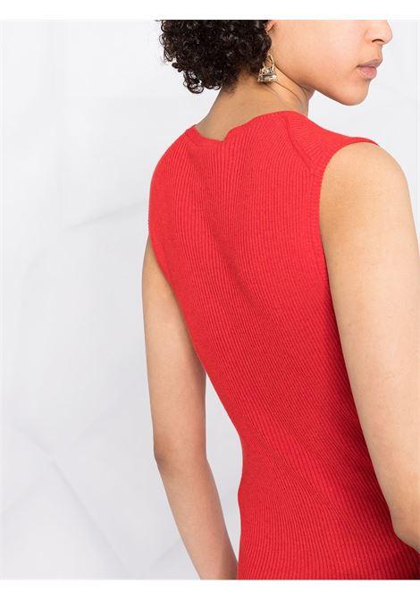 Abito tunica in maglia a coste di cotone rosso STELLA MC CARTNEY | Abiti | 603045-S22476309