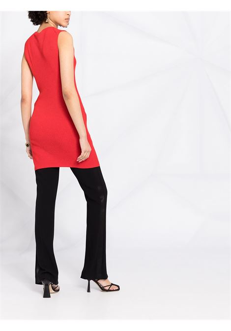 Red cotton rib-knit tunic dress featuring ribbed knit STELLA MC CARTNEY |  | 603045-S22476309