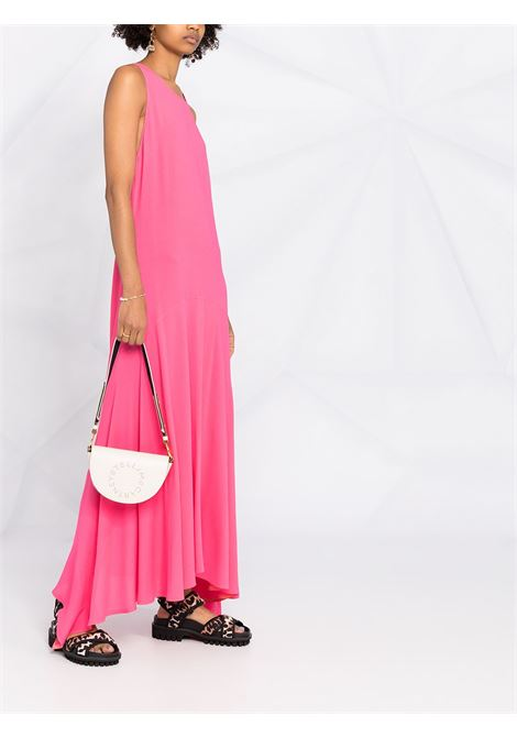 Maxi abito rosa smanicato con orlo curvo e dettagli drappeggiati STELLA MC CARTNEY | Abiti | 603130-SNA605610