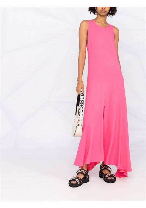 Pink curved-hem sleeveless maxi-dress featuring draped detailing STELLA MC CARTNEY |  | 603130-SNA605610