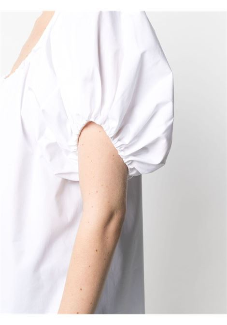 White cotton gathered-detail short-sleeve top   STELLA MC CARTNEY |  | 603161-SMA909000