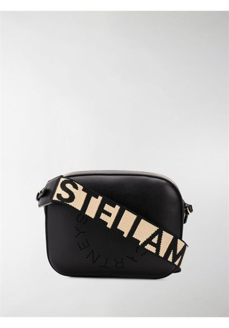 black Stella Logo shoulder bag featuring perforated Stella McCartney circular logo to the front STELLA MC CARTNEY |  | 700072-W85421000