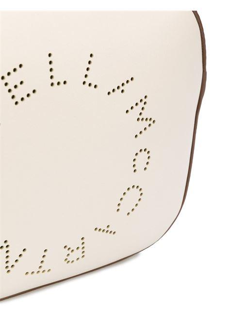 borsa a tracolla bianco Stella Logo con logo circolare Stella McCartney traforato sul davanti STELLA MC CARTNEY | Borse a tracolla | 700072-W85429000