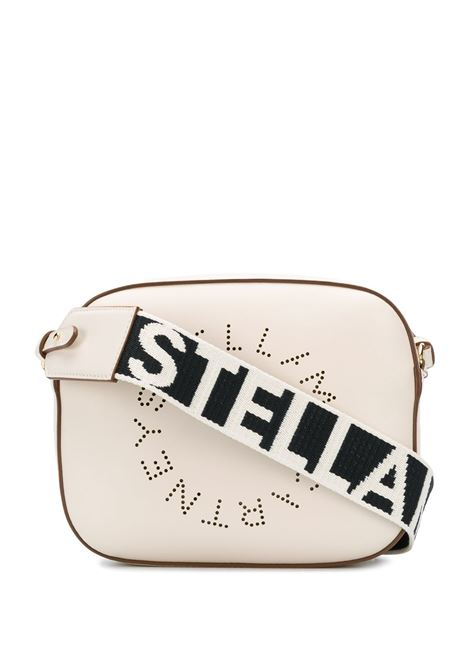 black Stella Logo shoulder bag featuring perforated Stella McCartney circular logo to the front STELLA MC CARTNEY |  | 700072-W85429000