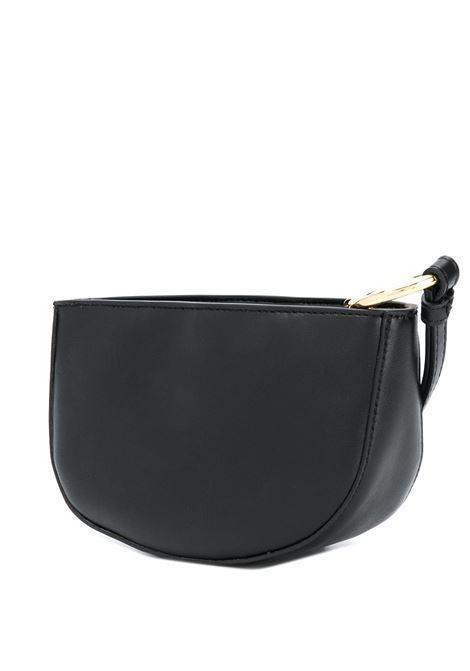 Pochette a mezzaluna in similpelle nera con logo Stella McCartney STELLA MC CARTNEY | Borse a mano | 700141-W85421000