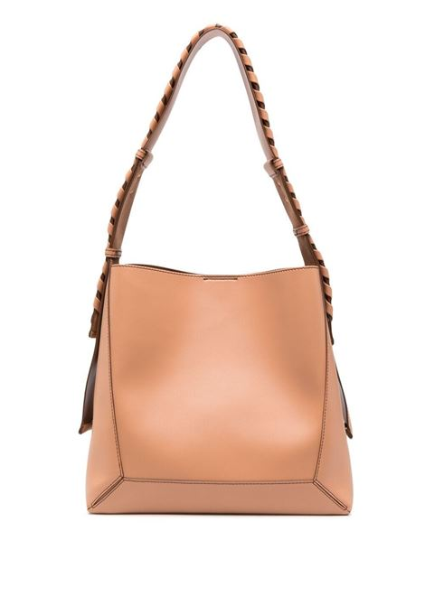Camel brown faux leather braided-strap hobo shoulder bag   STELLA MC CARTNEY |  | 700167-W87752742