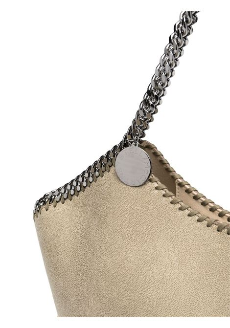 Light khaki faux leather and raffia medium Falabella Raffia tote bag  STELLA MC CARTNEY |  | 700224-W88052902