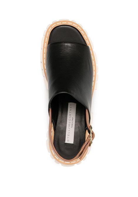 Sandali neri con plateau e punta aperta STELLA MC CARTNEY | Sandali | 800340-N02171046