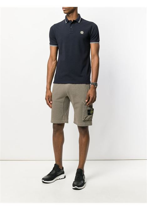 Blue cotton polo shirt featuring a front Stone Island logo patch STONE ISLAND |  | 101522S18V0020