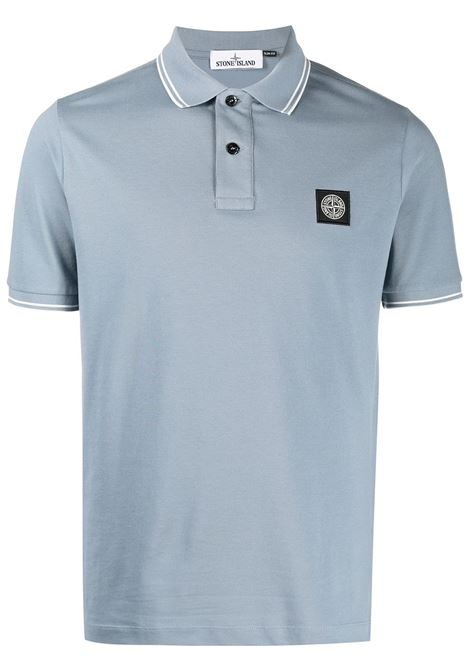 Teal-blue cotton polo shirt  STONE ISLAND |  | 101522S18V0046
