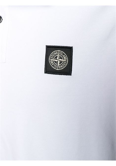 White cotton polo shirt featuring a front Stone Island logo patch STONE ISLAND |  | 101522S18V1001