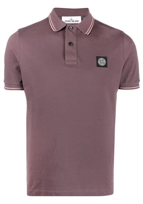 Merlot-red stretch-cottons short-sleeved polo shirt featuring Stone Island logo  to the front STONE ISLAND |  | 101522S18V2011