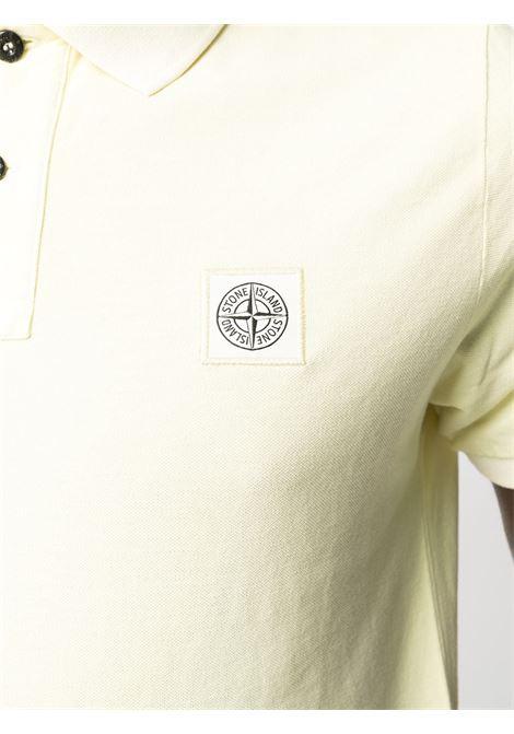 Polo gialla in cotone con logo Stone Island STONE ISLAND | Polo | 741522S67V0031