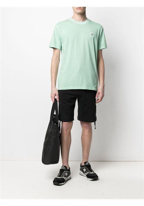 T-shirt verde acqua con patch del logo Stone Island STONE ISLAND | T-shirt | 741523757V0144
