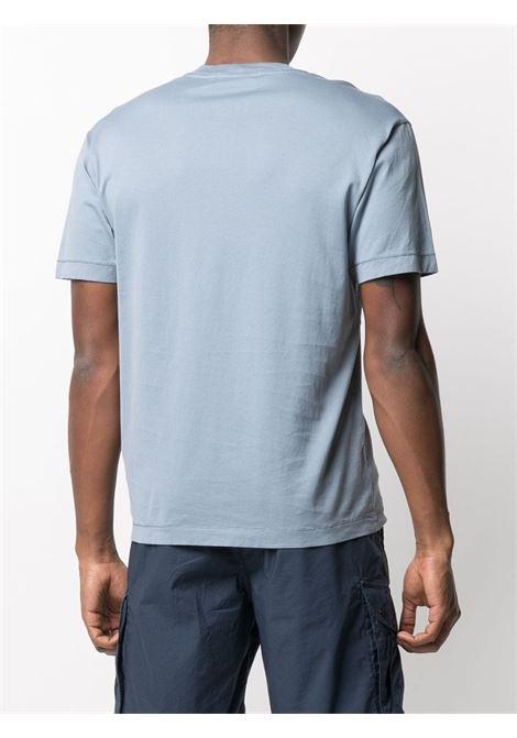 Sky blue cotton crew-neck T-shirt  featuring Stone Island logo patch STONE ISLAND |  | 741524113V0046