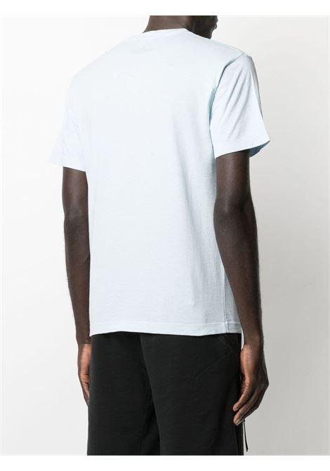 T-shirt in cotone bianco con stampa Stone Island nera sul davanti STONE ISLAND | T-shirt | 74152NS65V0041