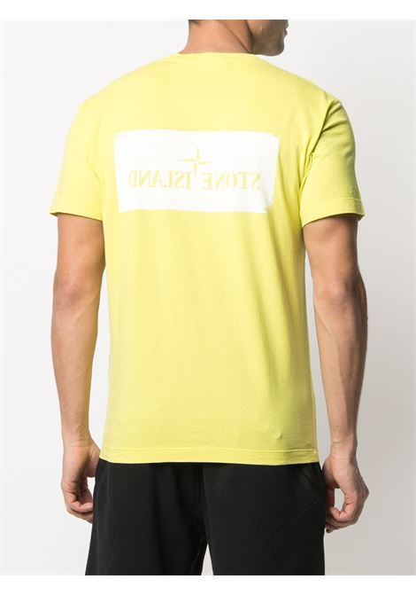 Yellow cotton T-shirt featuring crew neck STONE ISLAND |  | 74152NS80V0051