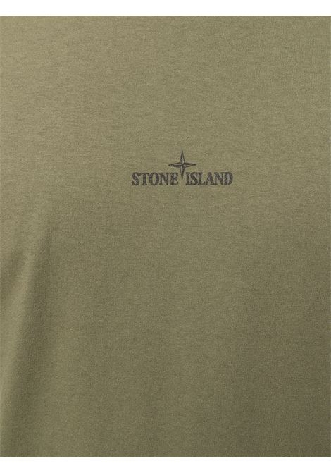Green cotton T-shirt featuring front Stone Island logo print STONE ISLAND |  | 74152NS85V0058