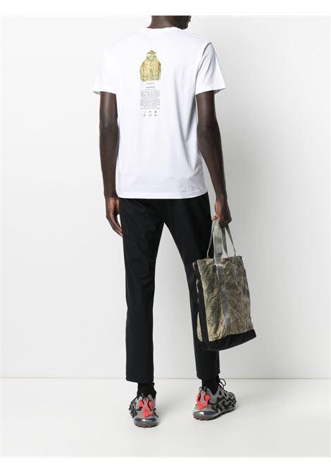 T-shirt bianca in cotone con logo Stone Island  STONE ISLAND |  | 74152NS91V0001