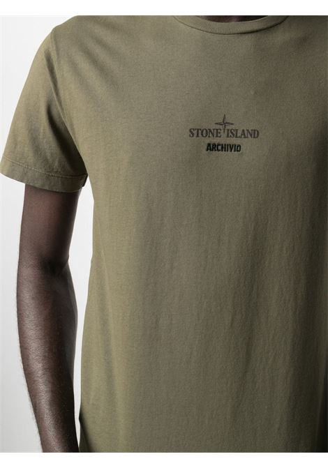 Green cotton T-shirt featuring Stone Island logo  STONE ISLAND |  | 74152NS91V0058