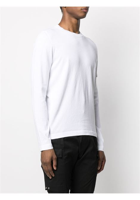 White cotton sweatshirt featuring round neck STONE ISLAND |  | 7415532B9V0001