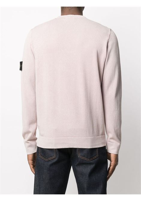 Pink cotton knit jumper featuring Stone Island logo patch at the sleeve STONE ISLAND |  | 7415554D9V0086