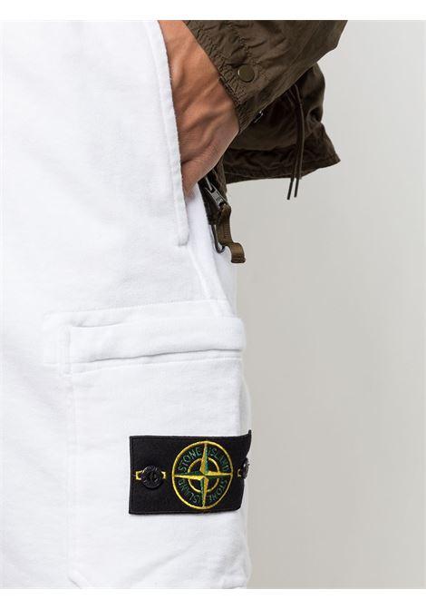 White cotton shorts featuring drawstring fastening waist STONE ISLAND |  | 741563560V0001