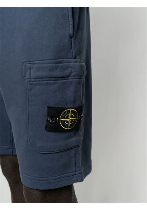 Blue cotton cotton track shorts featuring Stone Island logo patch to the side STONE ISLAND |  | 741564651V0024