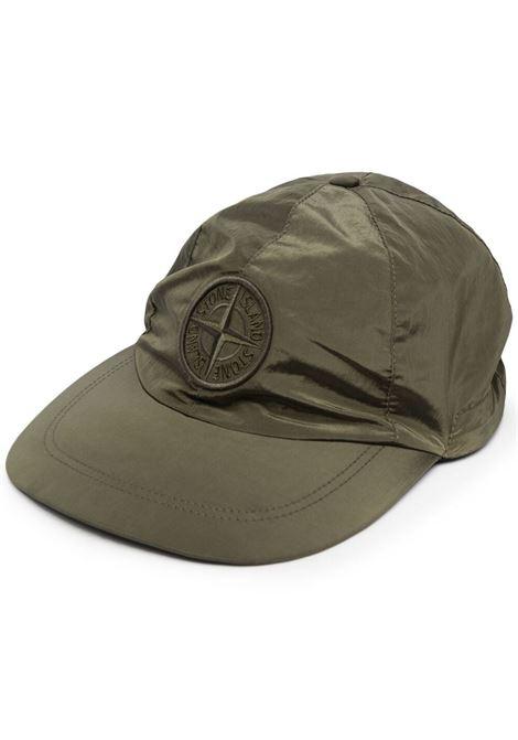 Green cotton Stone Island logo-embroidered cap   STONE ISLAND |  | 741599576V0058
