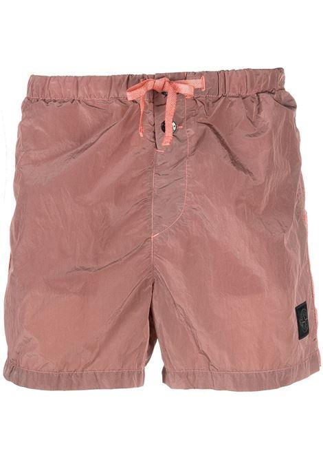 Shorts da bagno rosa con logo Stone Island STONE ISLAND | Costumi | 7415B0643V0086