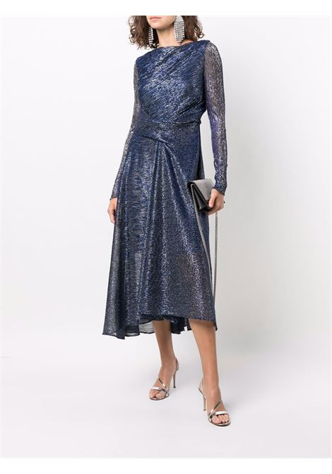 Glitter effect blue long dress TALBOT RUNHOF      ROSSO20-GS10490