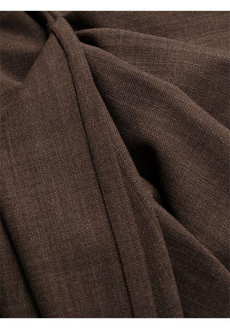 Abito marrone Roya in misto lana vergine stretch TALBOT RUNHOF | Abiti | ROYA14-MB00158