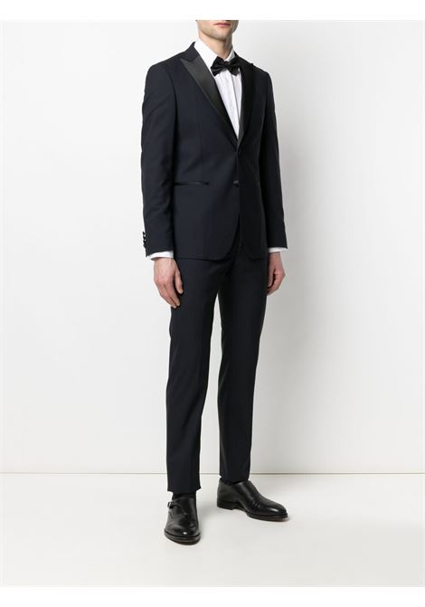 Navy blue and black virgin wool-blend two-piece dinner suit  TONELLO |  | 01AI318K-2747U603