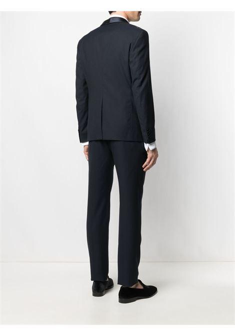 Black cotton fitted dinner suit  TONELLO |  | 01AI726K-2866F600