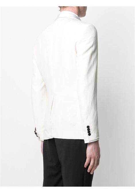 Blazer monopetto bianco in seta e lino TONELLO | Giacche | 01G726K-3164U001