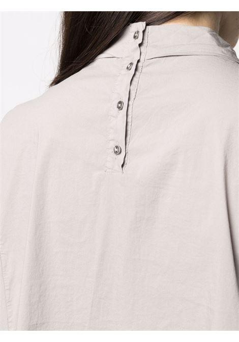 Blusa a maniche corte con collo girocollo in cotone grigio chiaro  TRANSIT |  | CFDTRN--M22011