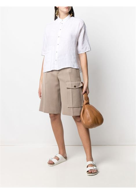 White drop-shoulder short-sleeve shirt  TRANSIT |  | CFDTRN-E14100