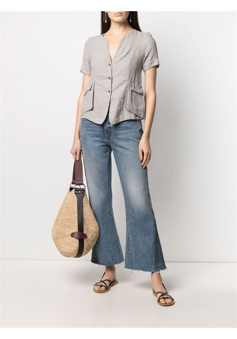 Light grey linen short-sleeve shirt  TRANSIT |  | CFDTRN-E14611