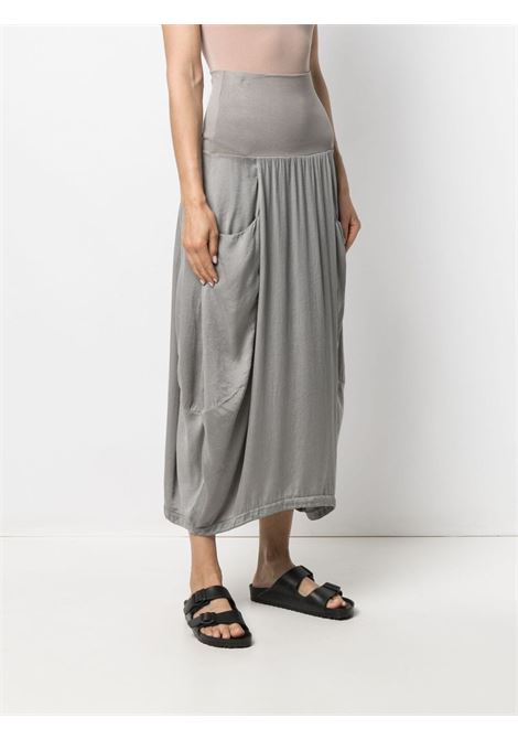 Grey silk blend slouched midi skirt featuring slouch body TRANSIT      CFDTRN-H17312